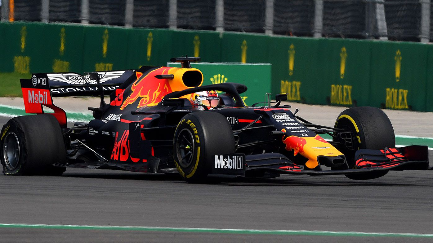 Max Verstappen suffered a puncture during the Mexican Grand Prix.