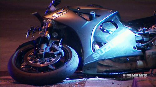 Locals say the motorbike rider could have been speeding.