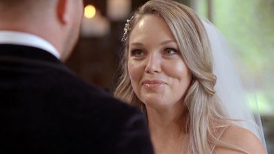 Melissa overcomes her nerves on her wedding day with Bryce