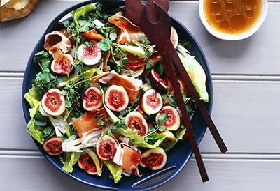 Fig, prosciutto, pear and witlof salad