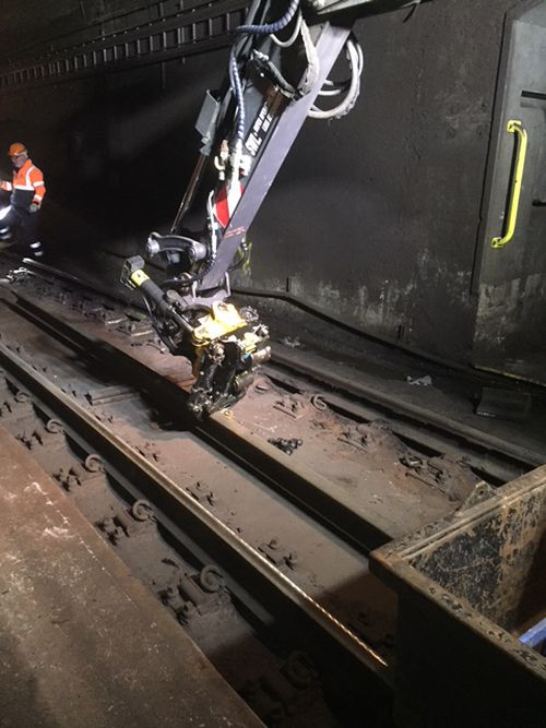 Crews worked quickly to repair the track and get trains moving again.