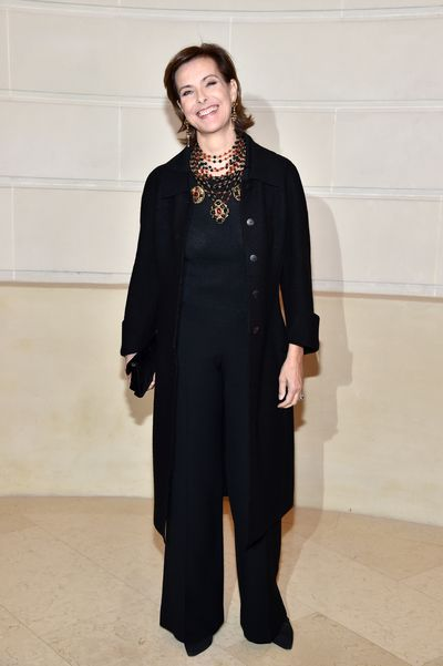 Actress, Bond Girl and muse Carole Bouquet at Chanel Metiers d'Art 2016/17