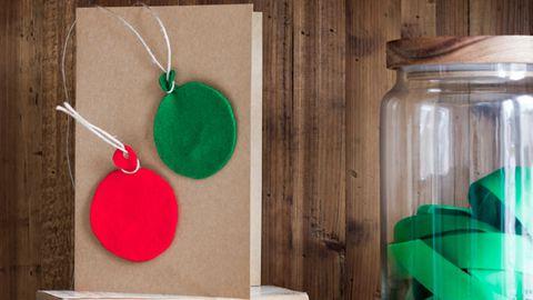 Easy felt Christmas cards
