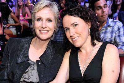 <i>Glee </i>star Jane Lynch married her long-term partner psychologist Lara Embry in an intimate ceremony in Massachusetts.