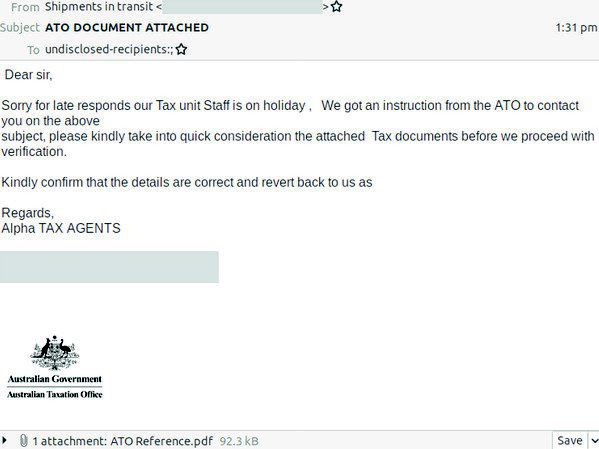 Ato Scam Sophisticated Email Phishing Scam Flooding Inboxes News Update