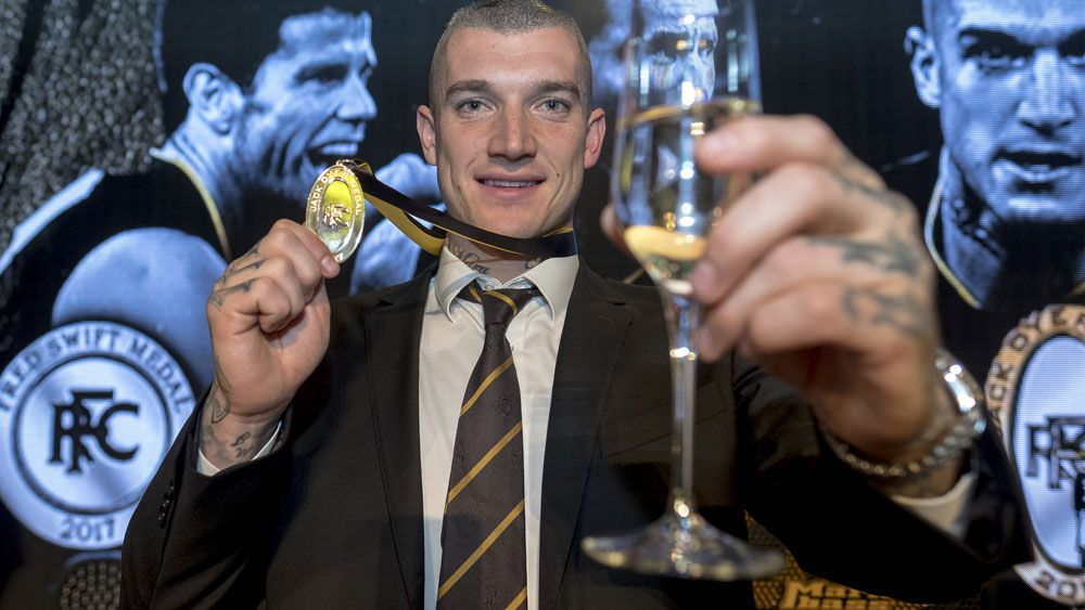 Richmond superstar Dustin Martin predicts more AFL success for Tigers after Jack Dyer Medal win