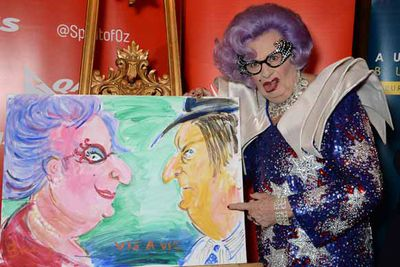 "Dame Edna Everage celebrates Australia Day at ""Qantas Presents Sunday At Australia House"""