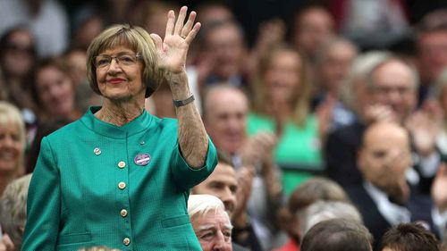 Margaret Court at Wimbledon last year. (AAP)