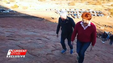 Pauline Hanson had never previously climbed Uluru before this week.