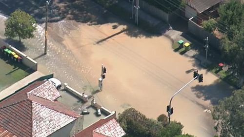Old Canterbury Road is closed. (9NEWS)