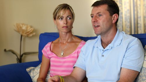 Kate and Gerry McCann said Madeleine vanished from their holiday apartment on May 3, 2007. Source: AFP