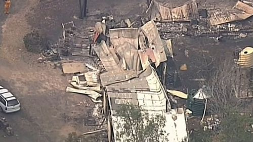 The Morris family's home was destroyed by last week's NSW bushfires,