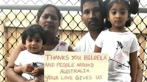 The family have been living in immigration detention on Christmas Island since 2019, after they were removed from their home in Biloela, Queensland by Border Force officers in 2018.