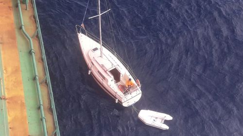 The man's elaborate escape plan began when a carrier heading for Newcastle, rescued him from a stricken yacht.