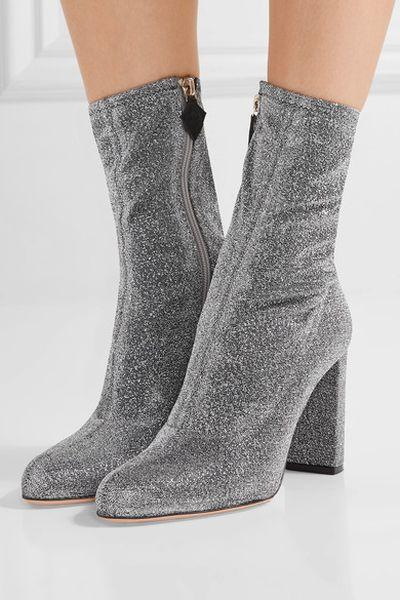"""Oscar Tiye lame boots, $724 at <a href=""""https://www.net-a-porter.com/au/en/product/815520/oscar_tiye/giorgia-textured-lame-boots"""" target=""""_blank"""">Net-a-porter</a>"""