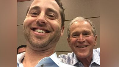 Former President George W. Bush was called for jury duty in Dallas, Texas on Wednesday and although he was not selected to serve he spent the day posing for photographs with fellow potential jurors. (Twitter)