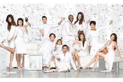 The Kardashians' 2012 card was all celebratory champagne, darlings!