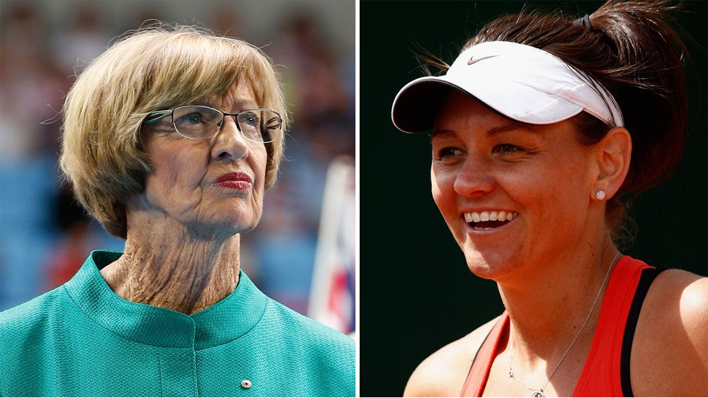 Margaret Court and Casey Dellacqua.