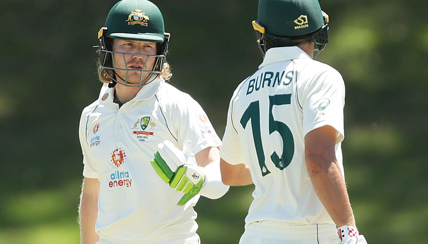 Will Pucovski and Joe Burns were both dismissed cheaply in the tour match against India.