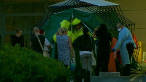 Contamination tents were set up. (Reuters)
