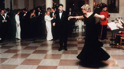 Princess Diana dances with John Travolta, 1985