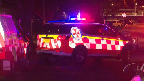 Emergency services were called to a home on Anderson Avenue in Panania following reports a person had been shot.