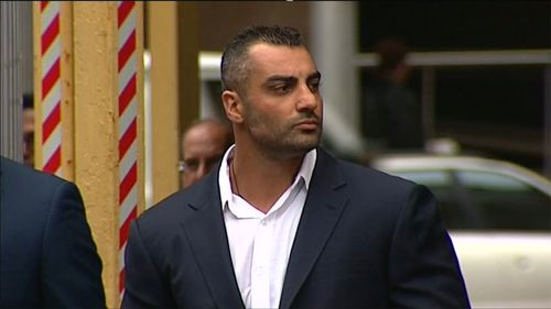 Mick Hawi outside court this morning. (9NEWS)