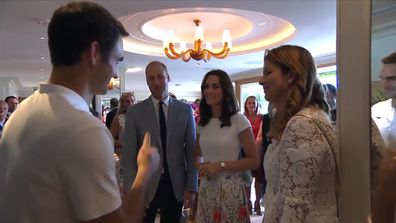 Kate and Will congratulate Federer on win