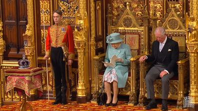 Queen Elizabeth and Prince Charles at the 66th State Opening of Parliament 4