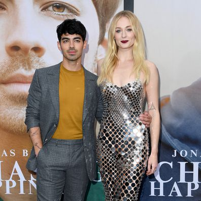 LOS ANGELES, CALIFORNIA - JUNE 03: Joe Jonas (L) and Sophie Turner attend the Premiere of Amazon Prime Video's 'Chasing Happiness' at Regency Bruin Theatre on June 03, 2019 in Los Angeles, California. (Photo by Steve Granitz/WireImage)