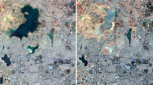190621 India water shortage Chennai satellite pictures News Asia World