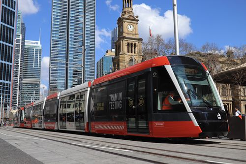 Sydney's new trams hold up to 450 passengers.