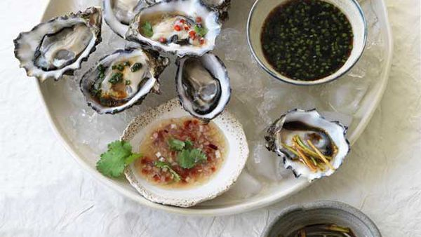 Oysters three ways