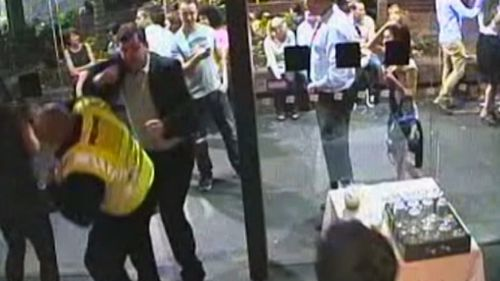 The court was shown CCTV of the attack. (Supplied)