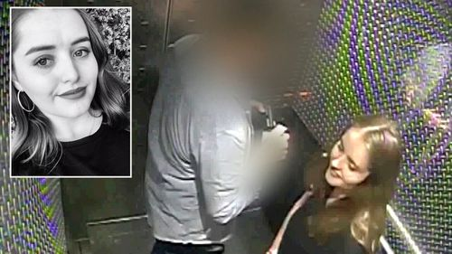British backpacker Grace Millane caught on CCTV in a lift with the  New Zealand man who strangled and killed her.