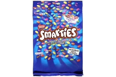 Mini-box of Smarties: More than 2 teaspoons of sugar