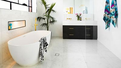 Win: Julia and Sasha's master bathroom
