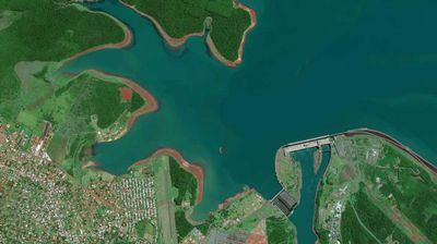 Itaipu Dam, Paraguay, March 12, 2014.