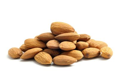 Almonds: 471mg per 100g (202mg per handful)