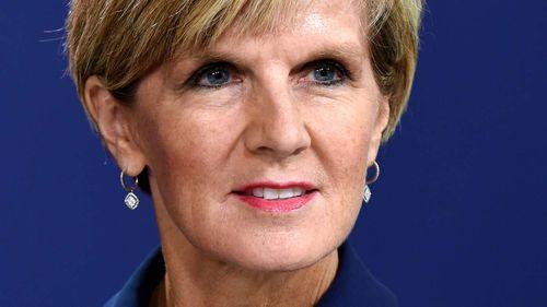 Australian Foreign Minister Julie Bishop.