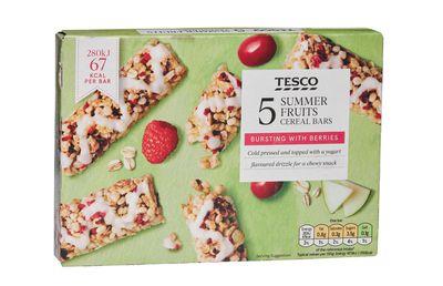 Tesco Summer Fruits Cereal Bars 5pk ($2.50)