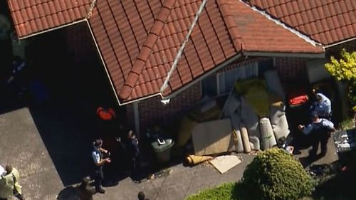 A man has been injured after cutting his own chest with a circular saw in Thornleigh, in Sydney's north west.