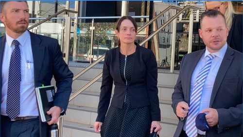 The coronial inquest will not proceed on Wednesday following an attempt to temporarily remove Officer Forte's widow Susan from the courtroom.
