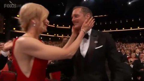Nicole Kidman full-on kisses Alexander Skarsgård on the lips