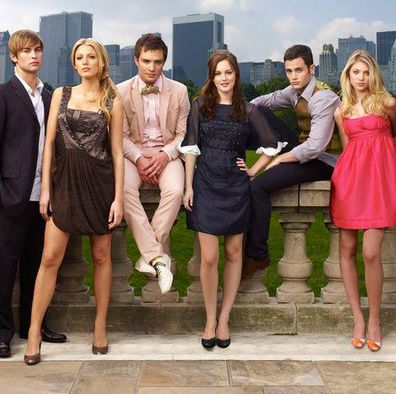 Gossip Girl cast, Chace Crawford, Blake Lively, Ed Westwick, Leighton Meester, Penn Badgley, Taylor Momsen.