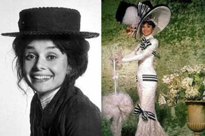 """The original makeover movie in which Audrey Hepburn drops her cockney """"Eliza Doolittle"""" accent and transforms into a sophisticated, upper class lady with the help of a few elocution lessons. <br/>"""