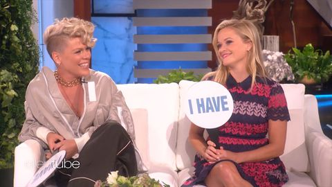 Reese Witherspoon and Pink play Never Have I Ever with Ellen DeGeneres
