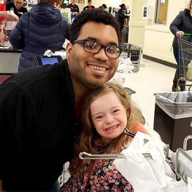 Girl with special needs gets to try out her 'dream job' bagging groceries