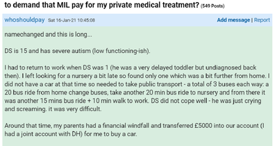 The woman has shared her dilemma on Mumsnet.
