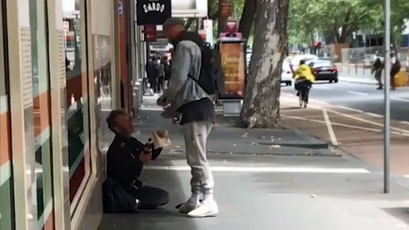 Quade Cooper's kind gesture to homeless person in Melbourne